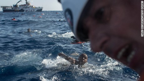 Migrant crisis unfolding at sea looms over g 7 summit cnn for Four man rubber life craft