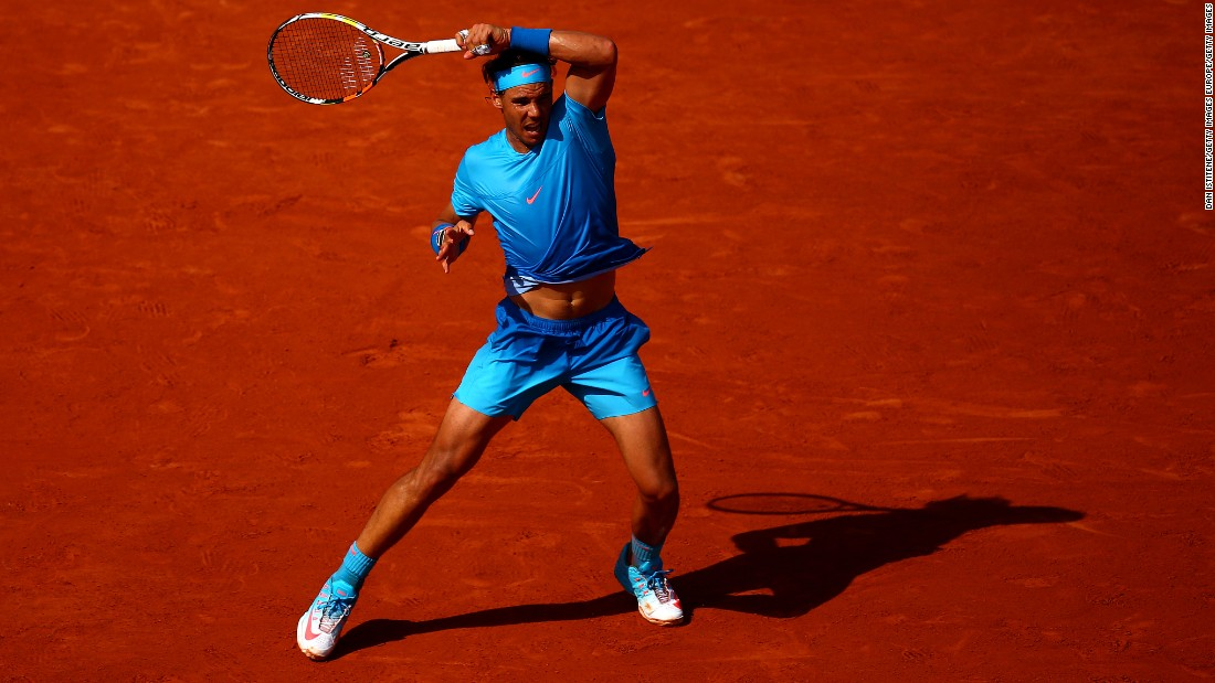 Nadal's struggle to find form continued into 2015's clay court season, dropping outside of the world's top five for the first time since 2005. Looking like an athletic version of the Cookie Monster, Nadal crashed out of the French Open in the quarterfinals to Djokovic. It ended his 39-match unbeaten run and marked just his second defeat on the Parisian clay.