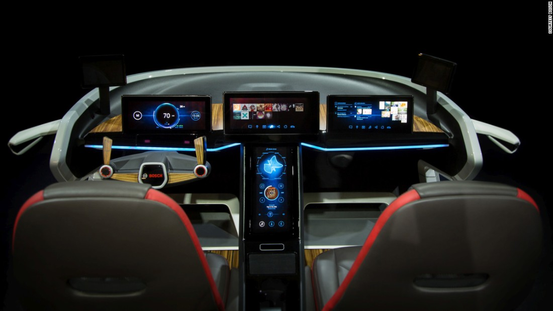 When it comes to electronics brand Bosch's concept car, which debuted at this year's Consumer Electronics Show, it's all about the interior. Facial recognition technology is used to personalize its settings. Everything from the type of music it plays to the position of the mirrors and the ambient temperature are all adjusted to your liking so as to minimize driver distraction.
