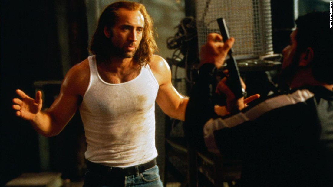 "<strong>""Con Air"": </strong>Nicolas Cage stars as an ex-con who finds himself on a prisoner transport plane taken over by the passengers in this 1997 action feature. <strong>(Hulu) </strong>"