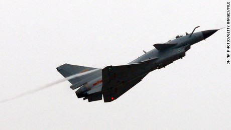 ZHUHAI, CHINA - NOVEMBER 4: (CHINA OUT) A J-10, China's multirole fighter plane performs a demonstration at the 7th China International Aviation and Aerospace Exhibition, on November 4, 2008 in Zhuhai of Guangdong Province, China. The event, also known as 'Airshow China', is scheduled to run from November 4 to 9, 2008 in Zhuhai, attracting nearly 600 exhibitors from over 30 countries and regions. (Photo by China Photos/Getty Images)