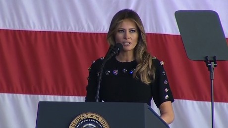 Melania Trump thanks US military members