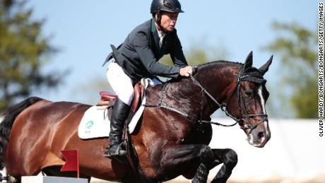 Rolf-Goran Bengtsson of Sweden riding Casall ASK during the Global Champions Tour Grand Prix of Hamburg.