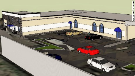 Plans for a proposed mosque in Bayonne, N.J., now at the center of a federal lawsuit.
