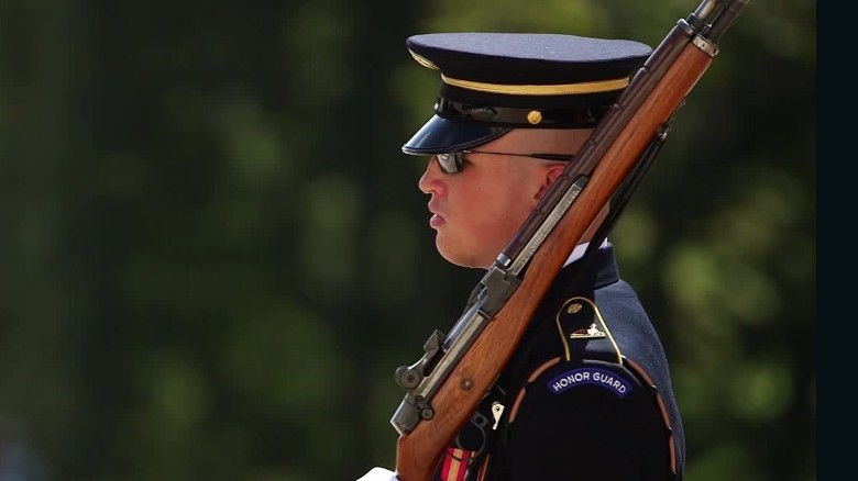 Guarding the Tomb of the Unknown Soldier