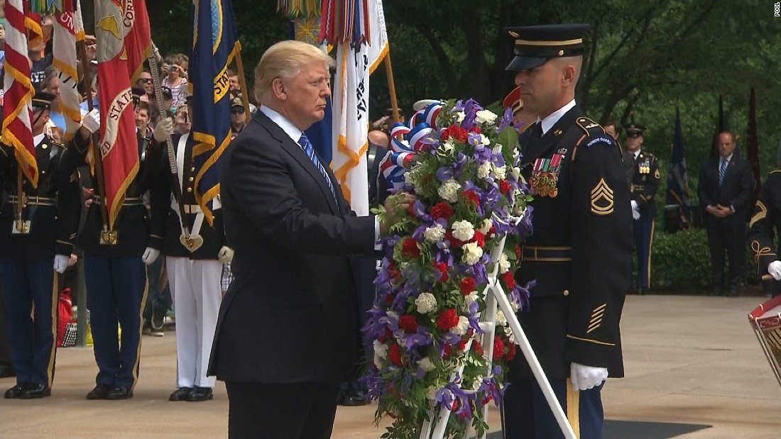 Trump marks Memorial Day with Arlington visit