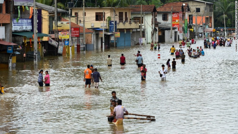 Floods overtake Sri Lanka, kills 150, govt seeks aid