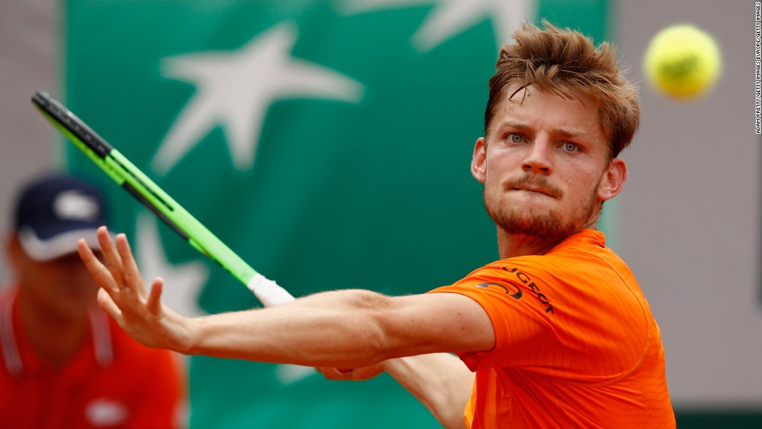 Belgian No. 1 David Goffin eased past Frenchman Paul-Henri Mathieu 6-2 6-2 6-2 on Court 1.<br />