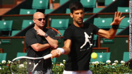 Andre Agassi: Graf pushed me to coach Novak