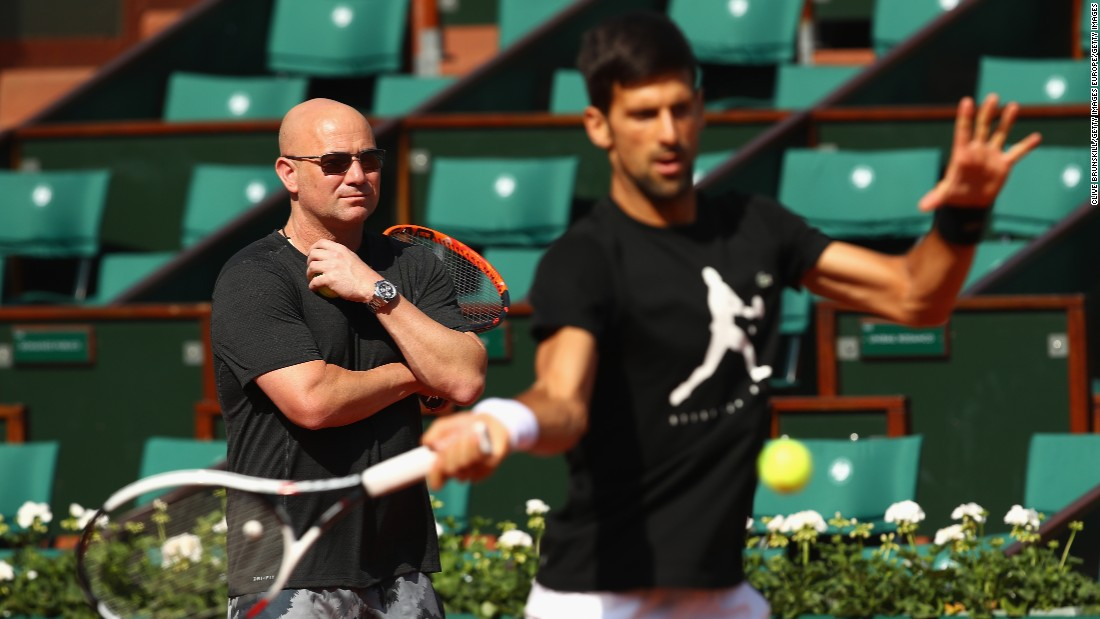 In May 2017, Agassi was persuaded by Graf to help coach former world No. 1 Novak Djokovic.