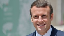 French President Emmanuel Macron arrives at the ancient Greek Theatre of Taormina during the Heads of State and of Government G7 summit, on May 26, 2017 in Sicily. The leaders of Britain, Canada, France, Germany, Japan, the US and Italy will be joined by representatives of the European Union and the International Monetary Fund (IMF) as well as teams from Ethiopia, Kenya, Niger, Nigeria and Tunisia during the summit from May 26 to 27, 2017. / AFP PHOTO / Tiziana FABI        (Photo credit should read TIZIANA FABI/AFP/Getty Images)