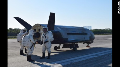 The U.S. Air Force X-37B Orbital Test Vehicle 4 landed at NASA's Kennedy Space Center Shuttle Landing Facility in Florida May 7, 2017. Managed by the Air Force Rapid Capabilities Office, the X-37B program is the newest and most advanced re-entry spacecraft that performs risk reduction, experimentation and concept of operations development for reusable space vehicle technologies. (U.S. Air Force courtesy photo)