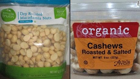 Simple Truth macadamia nuts and Ava's organic cashews have been recalled.