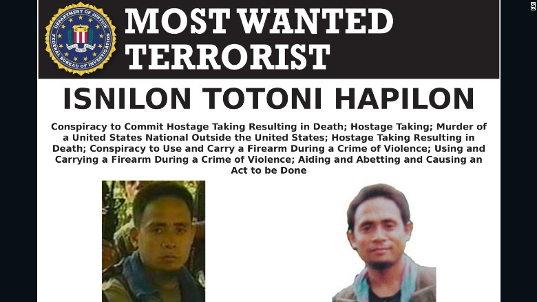 ISIS emir for Southeast Asia Isnilon Hapilon has a $5 million bounty on his head from the FBI.