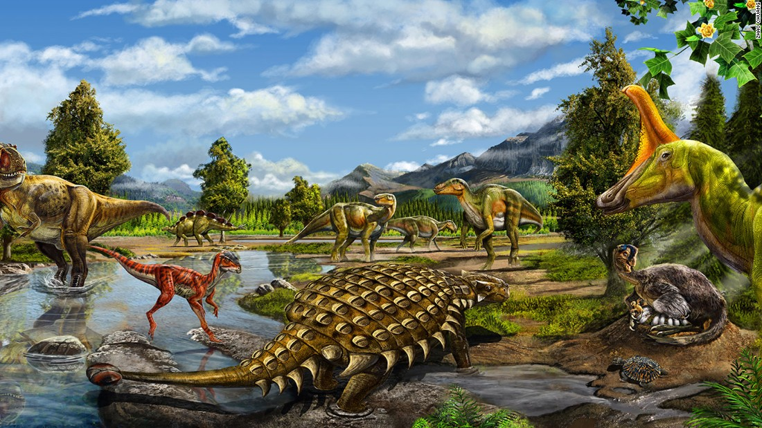 He uses information provided by scientists to imagine and draw the prehistoric creatures.