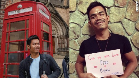 University student Jonta Saragih found it hard to get acceptance from his family when he originally came out as a gay man in Indonesia.