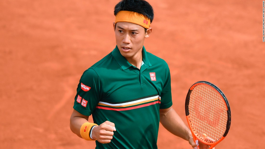 Kei Nishikori proved too strong for Australian Thanasi Kokkinakis over on court one, surviving an early scare to win 4-6, 6-1, 6-4, 6-4.