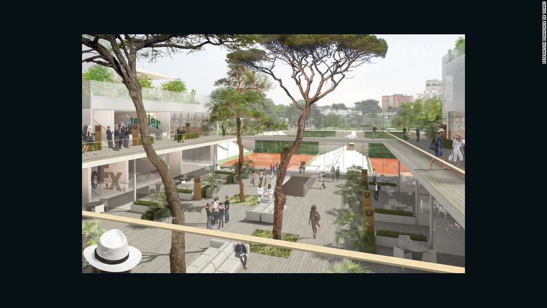 The site of the French Open will undergo a renovation program which will be finished in 2020.