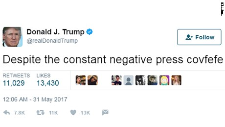 'Covfefe' tells you all you need to know about Donald Trump