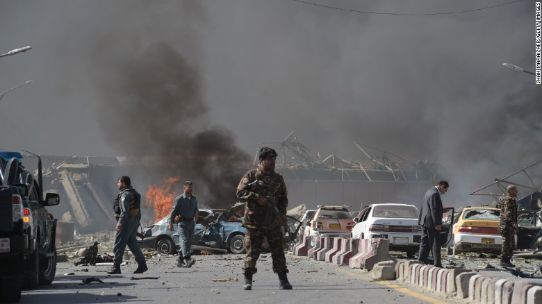 Blast in diplomatic area of Afghan capital kills, wounds 50