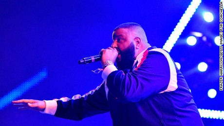 DJ Khaled performs  during the 2017 Coachella Valley Music & Arts Festival on April 23, 2017 in Indio, California.