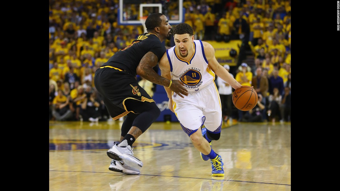 "<strong>Klay Thompson, Golden State, guard</strong><br />Golden State's Thompson is a much different player than Cleveland's Thompson. While Tristan does his work inside, Klay's doing his on the perimeter. Klay won this year's 3-point shootout during NBA All-Star Weekend, and in 2014 he and fellow ""Splash Brother"" Stephen Curry combined for a league record in 3-pointers made. Thompson is a three-time NBA All-Star, and he was one of four Warriors on this year's All-Star team."