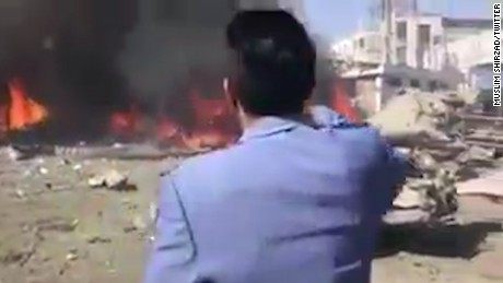 Chilling video captures the moments after the Kabul attack