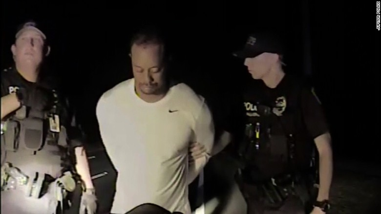Police release video showing the arrest of Tiger Woods
