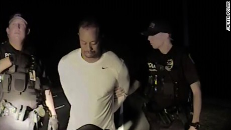 Police: Woods fell asleep while talking to cops