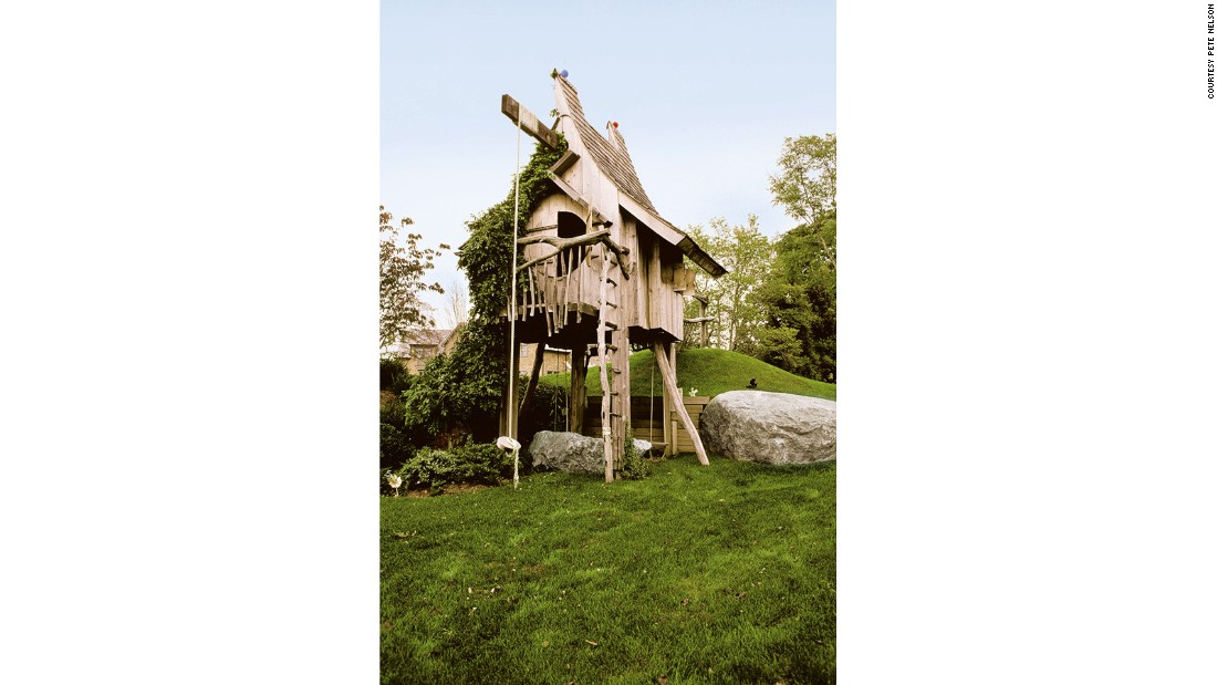 "The Bialsky Tree House, as it's designer Pete Nelson says, is less of a tree house and ""more of a stilt house."" Made with artist Michael Ince the house is built from reclaimed wood, and was originally built for the client's children."