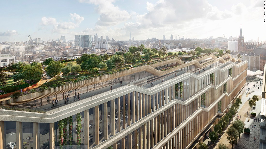 Google has submitted plans to build a new London headquarters, designed by Thomas Heatherwick and Bjarke Ingels.
