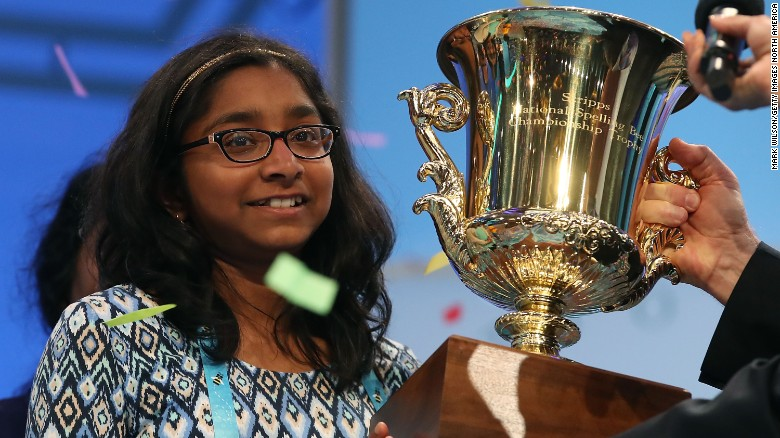 Very Chill 12-Year-Old Girl Wins National Spelling Bee