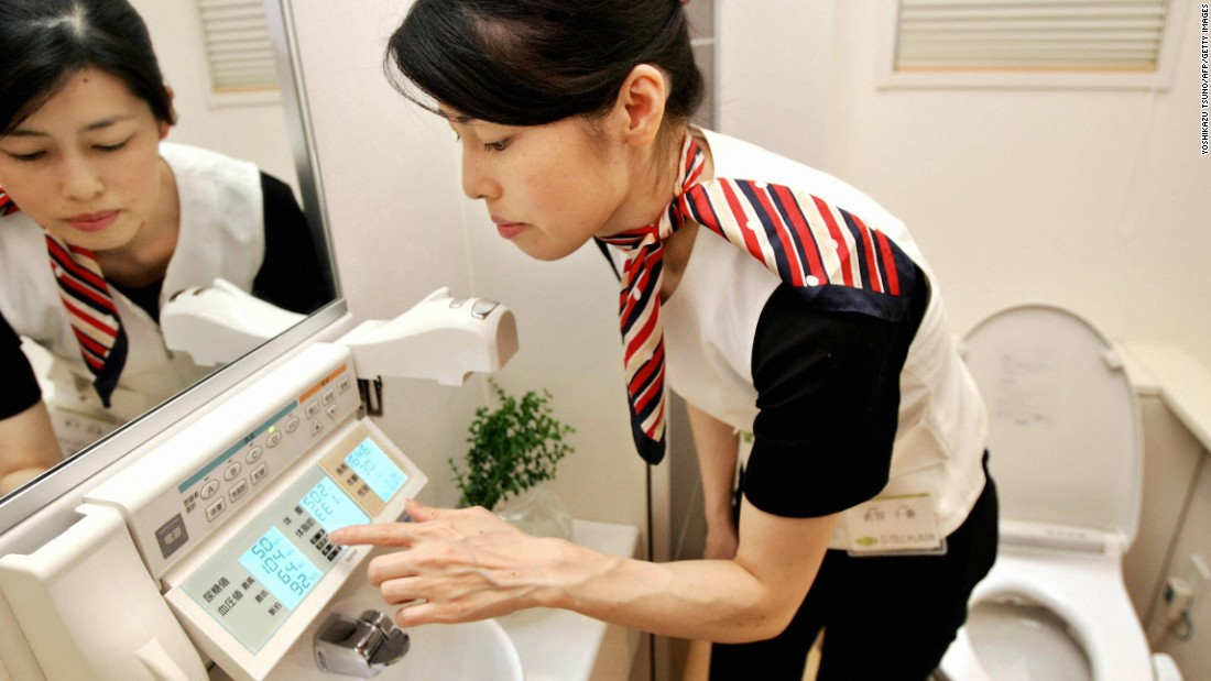 "High-tech toilets in Japan can check your blood pressure, urine, protein, weight and body fat. That's over and above offering the standard front and rear spray features.<br /><br />All of these options can be found on the control panel of the ""Intelligence toilet,"" pictured, designed by Japan's largest toilet maker, Toto."