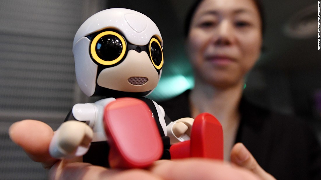 "Japan is the home of robotics, and there more than anywhere else, robots have found a place in society. <br /><br />Toyota's Kirobo Mini companion robot is small enough to be carried around or sit in a car's cup holder. It is able to strike up a conversation encourages safe driving by saying ""Oops"" when the driver brakes suddenly."