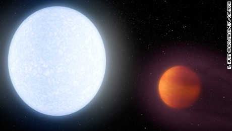 Newly discovered exoplanet is 'hotter than most stars'