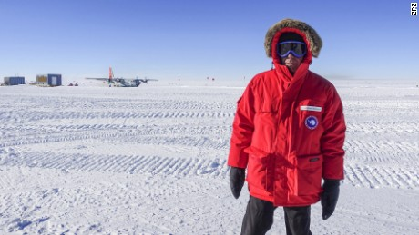 Anthony Bourdain arrives at the bottom of the world