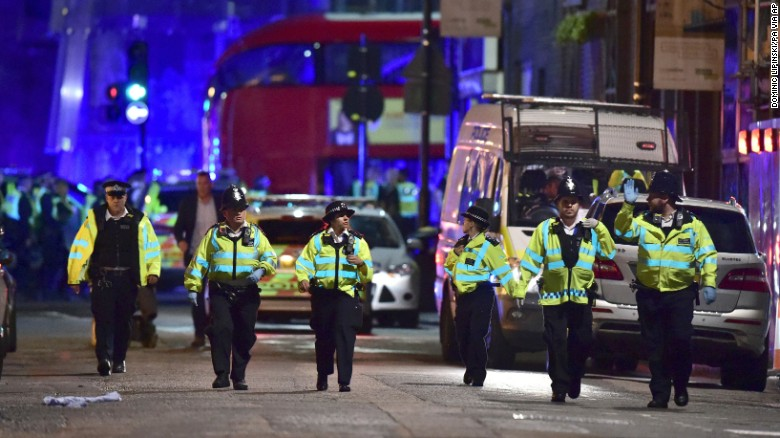 Sadiq Khan condemns London attackers' 'poisonous ideology' after visiting scene