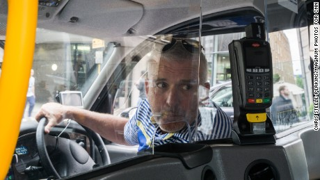 G.B. ENGLAND. London. Day after the  terrorist attack on London Bridge. Taxi driver Danny Hussey.