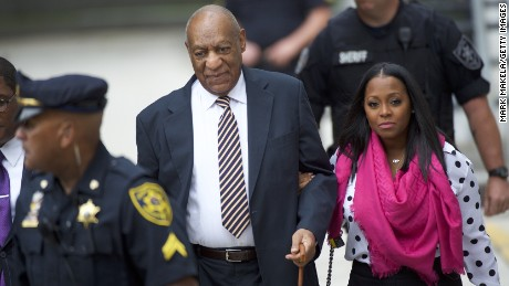 Bill Cosby arrived Monday with actress Keshia Knight Pulliam.