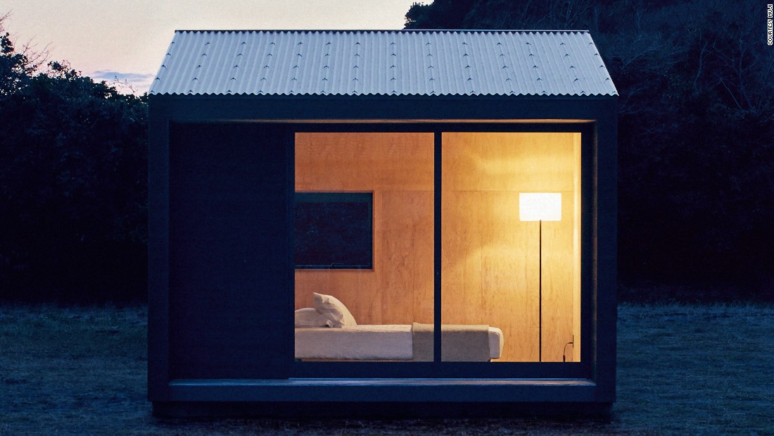 It's no surprise that the reigning kings of minimal, Muji, have applied their stripped-back aesthetic to this prefab tiny home. Covered in blackened cedar, and designed to fit into any landscape, the hut has plywood-lined interiors and sliding glass doors. Measuring just 98 square feet, it certainly makes for a cozy cabin, which the company says fits between a permanent home and a holiday hideaway.