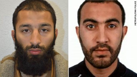 Khurah Shazed Butt, left, and Rached Redouane have been named as the London attackers by the Metropolitan police.