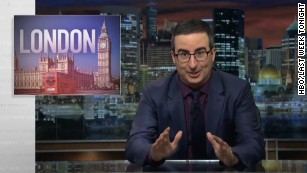 John Oliver mocks media after London attack