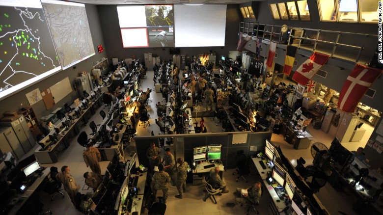 The Us Combined Air Operations Center Caoc At Al Udeid Air Base Qatar