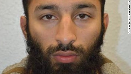 London Metropolitan Police have identified Khuram Shazad Butt, 27, as an attacker of the London Bridge on Saturday, June 3, 2017.
