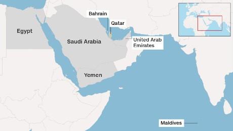 Qatar must stop funding terrorism, Trump says 170605210120 map six countries qatar large 169