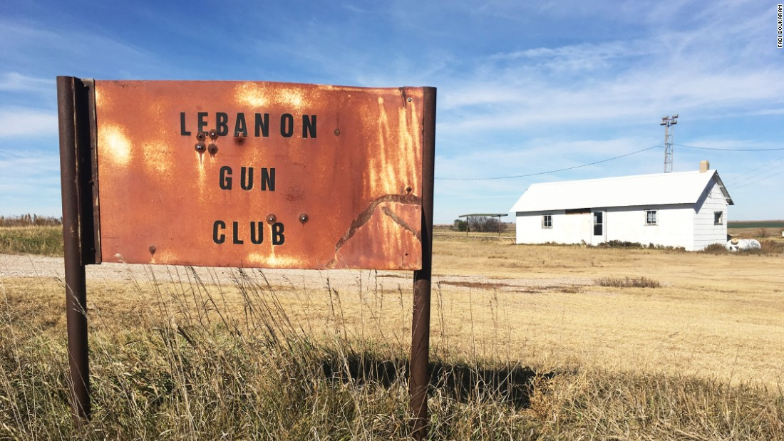 An abandoned gun club in Lebanon in  Nebraska. At the last census in 2010, the town had a population of 80, including just 21 families. The racial make-up was 100% white.