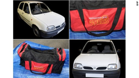 These images of car and bag were released by Manchester Police.