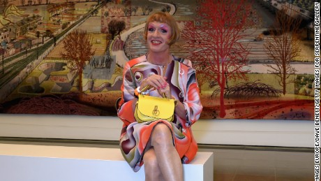 "Grayson Perry at the press preview of ""The Most Popular Art Exhibition Ever!"" at the Serpentine Gallery"