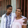 partners in health hospital sauvener with mother