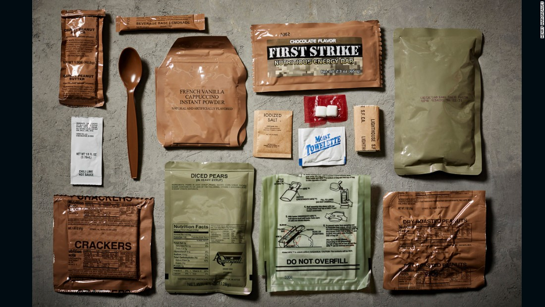 MREs (Meals Ready to Eat) are military combat rations provided to soldiers in the field of duty.